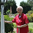 Granny by the lamp post